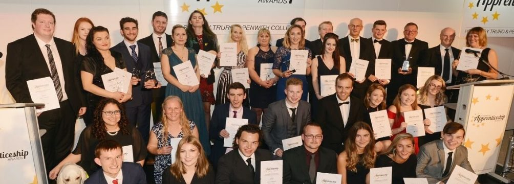 2018 Award winners and highly commended nominees 1200 700 1 1004x360 - NOMINATIONS OPEN FOR THE 2019 CORNWALL APPRENTICESHIP AWARDS
